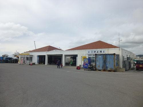 石垣港ターミナル(フェリー)<br/>離島桟橋から市内側の少し離れた場所にある
