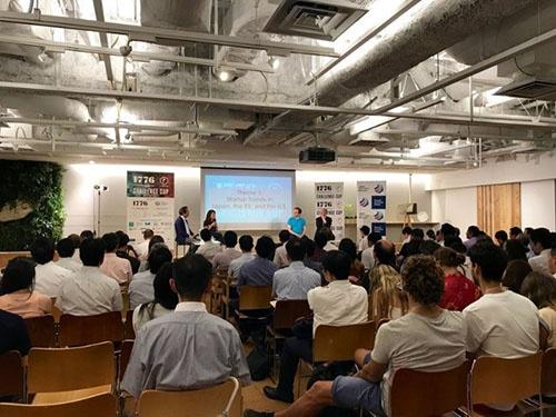 Japan Innovation Networkとワシントン D.C.を拠点とするスタートアップ・インキュベーターの「1776」による東京でのチャレンジカップ・イベント(2017年7月)