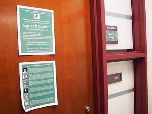 「スピーチ・センター」。ベンチャーキャピタルや金融機関などから資金を調達しやすくなるように伝わるプレゼンの仕方を学べるサービスもある