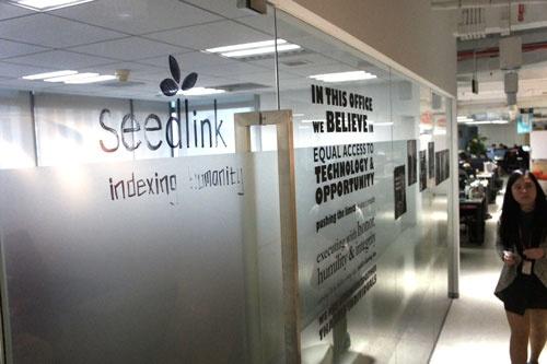 上海市内のコワーキングスペースに入るシードリンクのオフィス