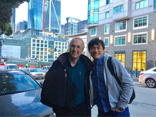 ラースさんとサンフランシスコにて。デザイン会社と、展示会ブースの企画打ち合わせに参加しました