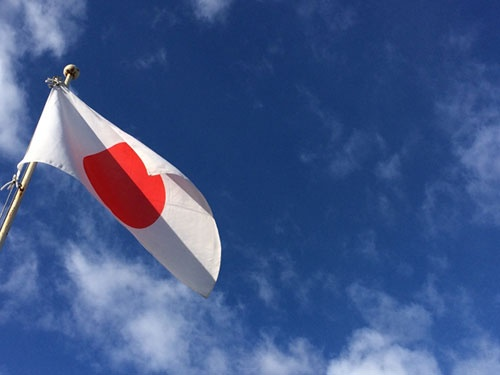 アメリカに日本の旗を立てる