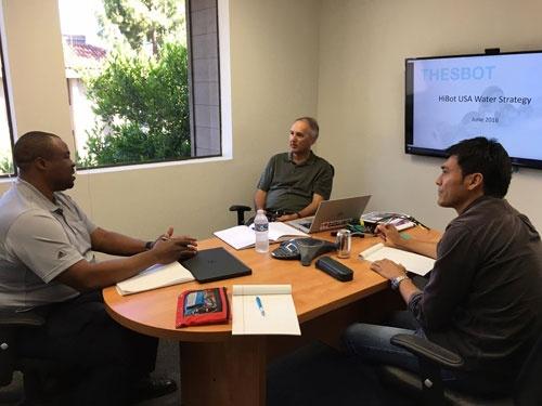 統計とリスク分析の専門家コーフィーとのミーティング