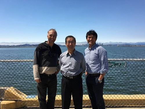 ロボット会社(ハイボット社)の会長が実際の水道配管の様子を見学しに、サンフランシスコまで来てくれました