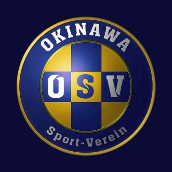 沖縄のミンサー織の柄を取り入れた沖縄SVのエンブレム