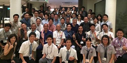 G1沖縄フォーラムに参加された皆様と記念撮影(写真提供:一般社団法人G1)
