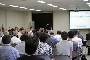 第1回・沖縄スポーツ産業クラスター検討会議には多くの方が来場されました(撮影:仲本兼進、以下同)