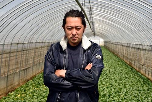 農業法人ベジフルファームの田中健二社長(写真撮影:山下裕之)