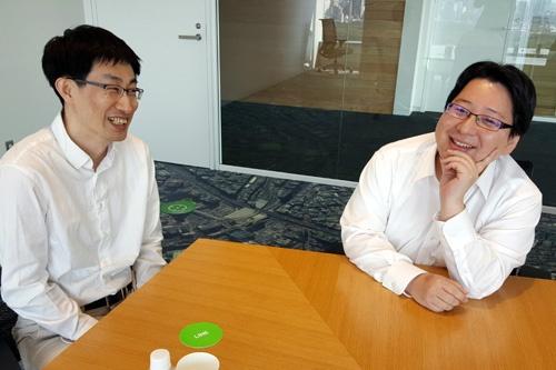 慎ジュンホ取締役(左)と舛田淳取締役(右)の出会いも、LINE誕生の大きな要素となった