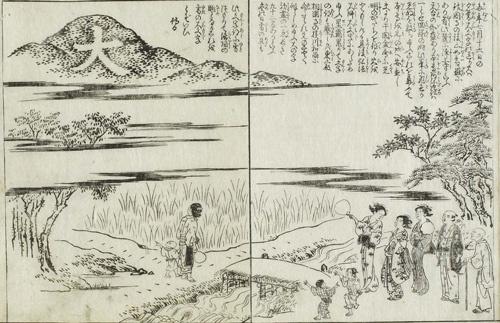 都名所図会には江戸時代の送り火の様子が描かれている