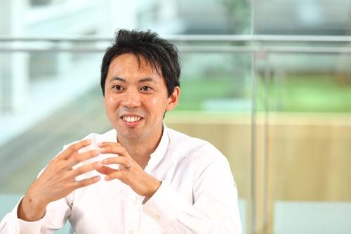 ラクスルの松本恭攝社長CEO(写真:北山宏一、以下同じ)
