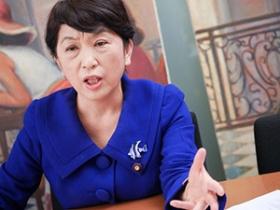 社会民主党の福島瑞穂・副党首(写真:加藤 康)