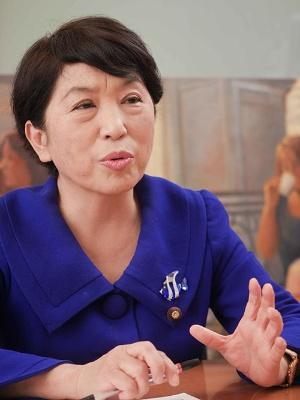 社民党の福島瑞穂・副党首(写真:加藤 康)