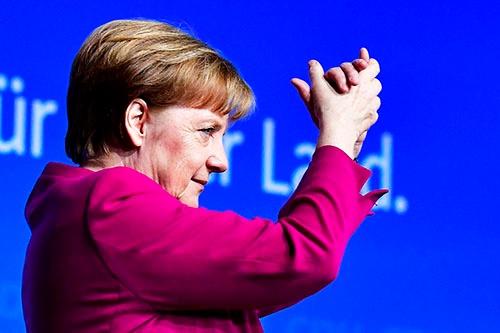 ドイツの社会民主党が連立政権入りを決定。これにより、メルケル首相の4期目がようやくスタートすることになる。写真は、キリスト教民主同盟(CDU)の2月の党大会。(写真:AFP/アフロ)