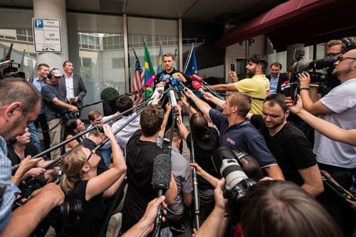 6月28日、FIFAワールドカップのグループリーグに敗退し、帰国したドイツ代表(写真:picture alliance/アフロ)