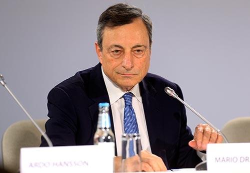 欧州中央銀行(ECB)のドラギ総裁 (写真:ロイター/アフロ)