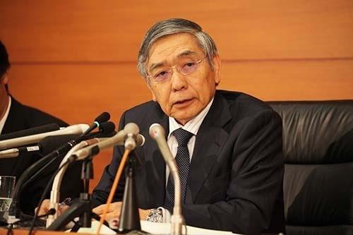 日銀の黒田東彦総裁。「出口政策」の難易度は一段と増している。(写真:都築雅人)