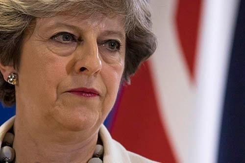 10月20日、欧州連合(EU)首脳会議に出席し、EUからの離脱交渉の進展を懸命に訴えた英国のメイ首相。(写真:Dan Kitwood/Getty Images)