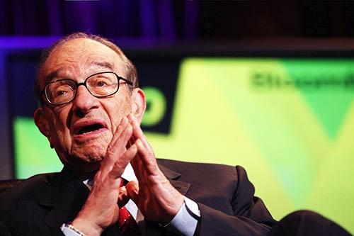 1987年から2006年までFRB議長を務めたアラン・グリーンスパン氏。(写真:Bloomberg/Getty Images)