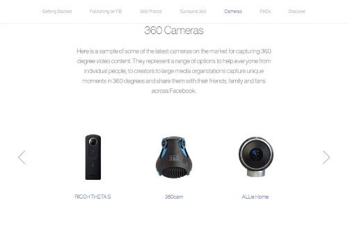 Facebookは2016年6月から一般利用者に対して360度コンテンツのアップロード対応を開始した。利用するカメラの例として、筆頭にシータが掲げられた