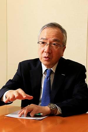 シチズンHDの戸倉社長は、時計事業の再強化を経営目標に掲げる (写真:尾関裕士)