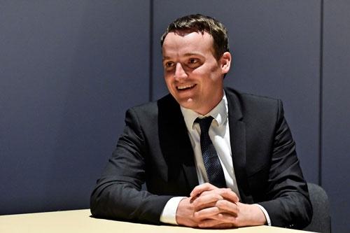 SAPのクリスチャン・クラインCOO(最高執行責任者)。SAPの若手のロールモデルとして期待されている(写真:Mira Haupel)