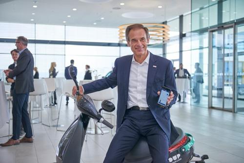 ボッシュは自ら、ドイツ国内で電動スクーターのシェアリングサービスに進出している(写真:永川智子)