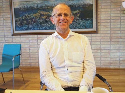 漁業販売組合Norges Sildesalgslaのクヌート氏。漁獲管理に必要なのは、情報の透明性だと訴える