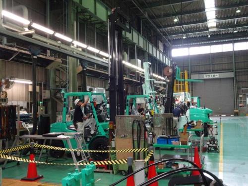 ニチユ三菱系の京都工場(京都府長岡京市)は活況が続く