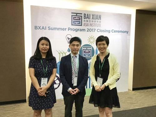佐野史明氏(中央)は北京の環境ベンチャーに飛び込んだ