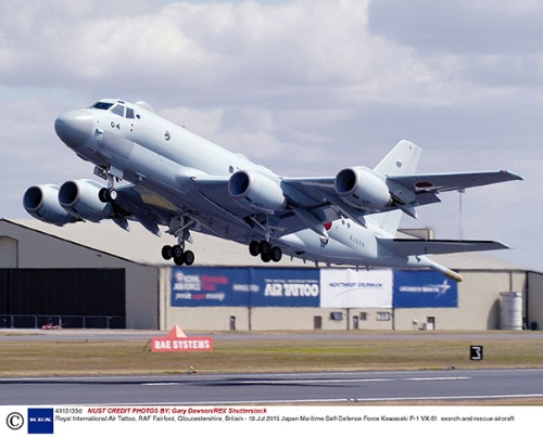 哨戒機「P-1」 。イージス・アショア導入決定のしわ寄せで導入予定数が減ると指摘されている(写真:Shutterstock/アフロ)