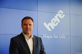 <b>ヒアのエザード・オーバーベックCEO(最高経営責任者)</b><br/>1967年オランダ生まれ。独シーメンスなどを経て2000年に米シスコシステムズ入社。日本法人社長兼CEO、アジア・パシフィック・アンド・ジャパン・プレジデントなどを歴任し、2016年3月からヒアCEO