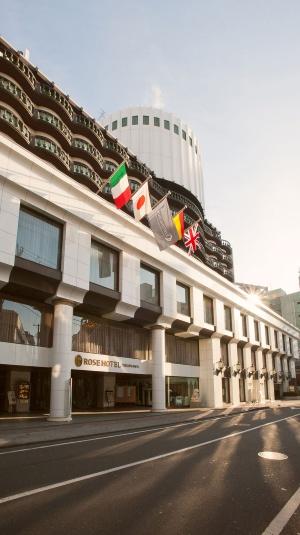 「ローズホテル横浜」(旧ホリデイ・イン横浜)。フランチャイズ契約の打ち切りを期に、自前のブランドを立ち上げた
