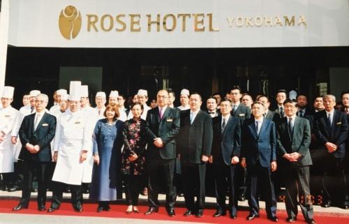 ローズホテル横浜へリブランディング。横浜の市花であり、創業者の妻、呉延信が大好きだったバラがホテル名の由来だ