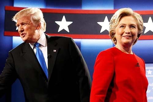 9月26日夜(日本時間27日午前)のテレビ討論会の結果について、「民主党ヒラリー・クリントン候補の勝ち」とする米メディアが多かったが…(写真:ロイター/アフロ)