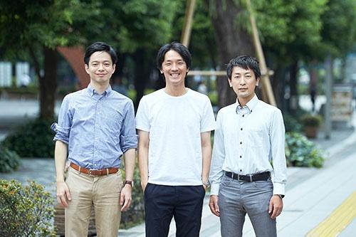 One JAPANの共同発起人3人。左から、山本将裕(NTT東日本)、濱松誠(パナソニック)、大川陽介(富士ゼロックス)。濱松氏は共同発起人・代表を務める(写真=吉成 大輔)