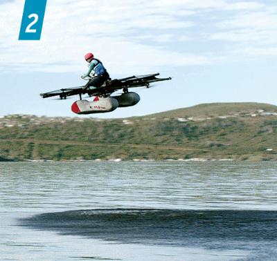 """<span class=""""sp_col01"""">2</span> <b>ラリー・ペイジ氏が出資するキティホークは、水上を飛ぶことのできる新しいモビリティーを開発した。自動運転ではないが操縦が簡単で、「免許なしで飛べる」(同社)のが売りだという</b>(写真=Davis Elen)"""