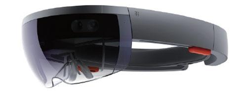 米マイクロソフトのヘッドマウントディスプレー「HoloLens」(出所:米マイクロソフト)