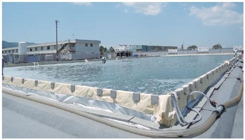 IHIが鹿児島市に設けた面積1500平米の藻類培養池