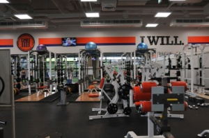 ドームの本社オフィスにあるトレーニング施設