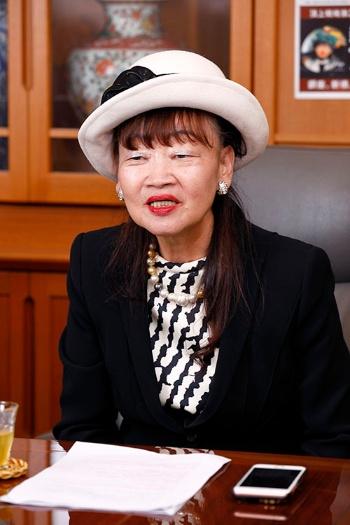 「アパホテルは常に進化して、サービスを向上させている」と語る元谷芙美子社長