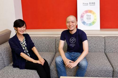 西沢眞璃奈氏(左)と麻生要一氏は、社内の新規事業開発を促進する役割を担う(写真:竹井 俊晴)
