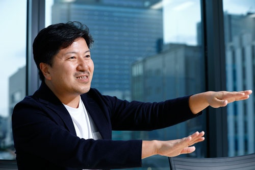 <b>山口 文洋(やまぐち・ふみひろ)氏</b><br>1978年生まれ。ITベンチャーなどを経て、2006年リクルート入社。「スタディサプリ」などの企画開発を担当。15年からリクルートホールディングス執行役員兼リクルートマーケティングパートナーズ社長(写真:竹井俊晴)