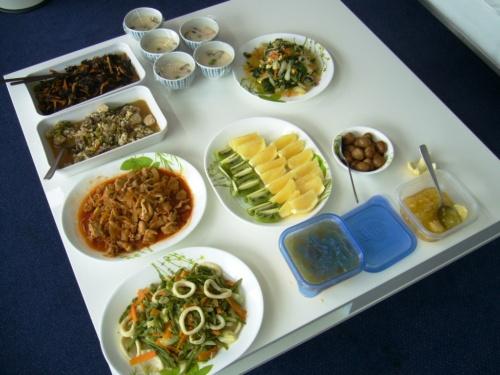 柔道男子日本代表の合宿で提供される食事例