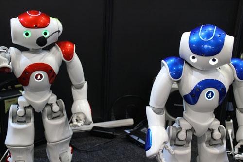 受付、接客、教育、ヘルスケアなどをこなすヒューマノイドロボット「NAO」。