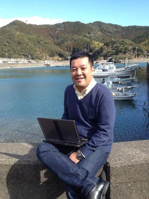 徳島県の漁村に本社を移転したサイファー・テックの吉田基晴社長