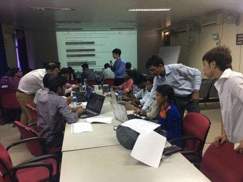 日本のAIスタートアップである「エクサウィザーズ」がインドで開催した人工知能ワークショップ