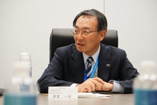 CES 2019会場で取材に応じるパナソニックの津賀一宏社長