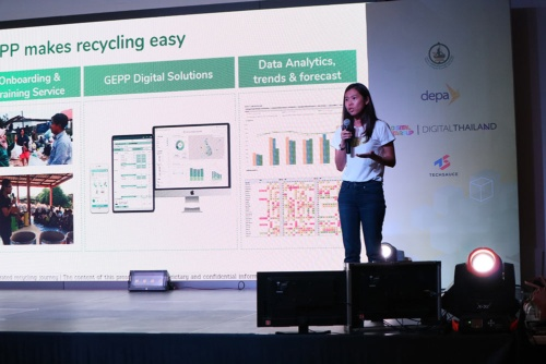 資源ゴミの回収を手がけるGEPP Sa-Ard(ゲップ・サード)のマユリー・アルーンワラノン共同創業者兼CEO(最高経営責任者)