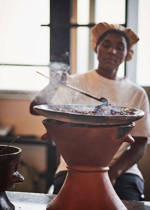 「ガーデン・オブ・コーヒー」では店内でコーヒー豆を煎るため、店中にコーヒーの香りが充満する